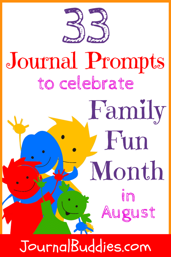 Use these fresh Family Fun Month journal prompts this August (or really, any time of year!) to create special memories that you and your kids will cherish forever.