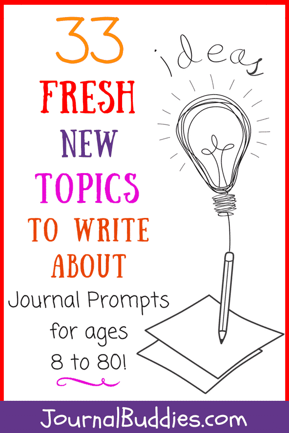 Whether you're looking for a little fresh inspiration for your journal or trying to find some new insights into your life, we know you'll love these topics to write about!