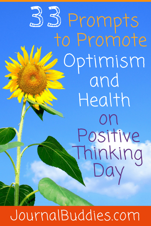 Optimism Writing Ideas for Positive Thinking Day