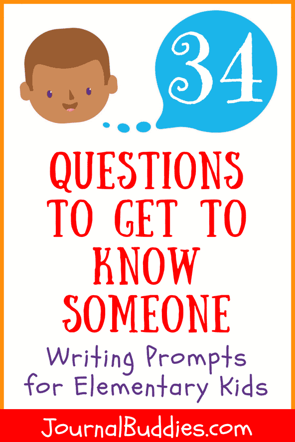 Elementary Writing Prompts with Questions to Get to Know Someone