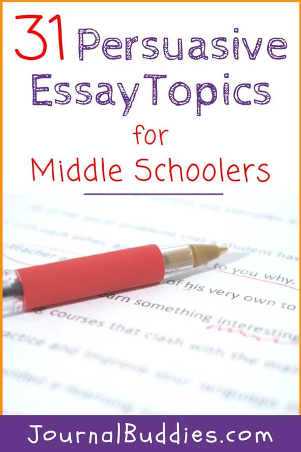 Persuasive Writing Topic for Middle School Students