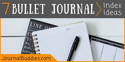 Index Ideas for Bullet Journaling