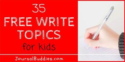 35 Free Write Topics for Kids