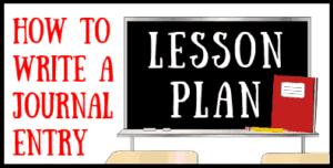 Journal Entry Lesson Plan