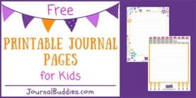 Printable Journal Page for Students