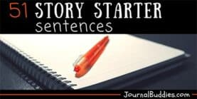 Story Writing Sentence Starters