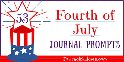 July 4th Journal Writing Prompts for Kids