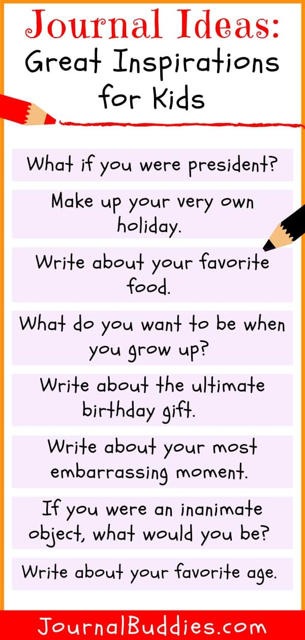 Journal Ideas for Kids
