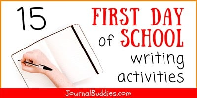 Writing Activities for the 1st Day of School