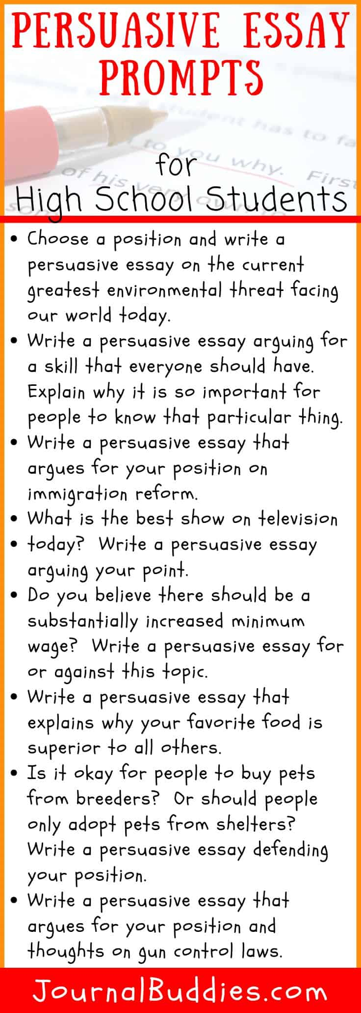 High School Persuasive Essay Topics and Tips