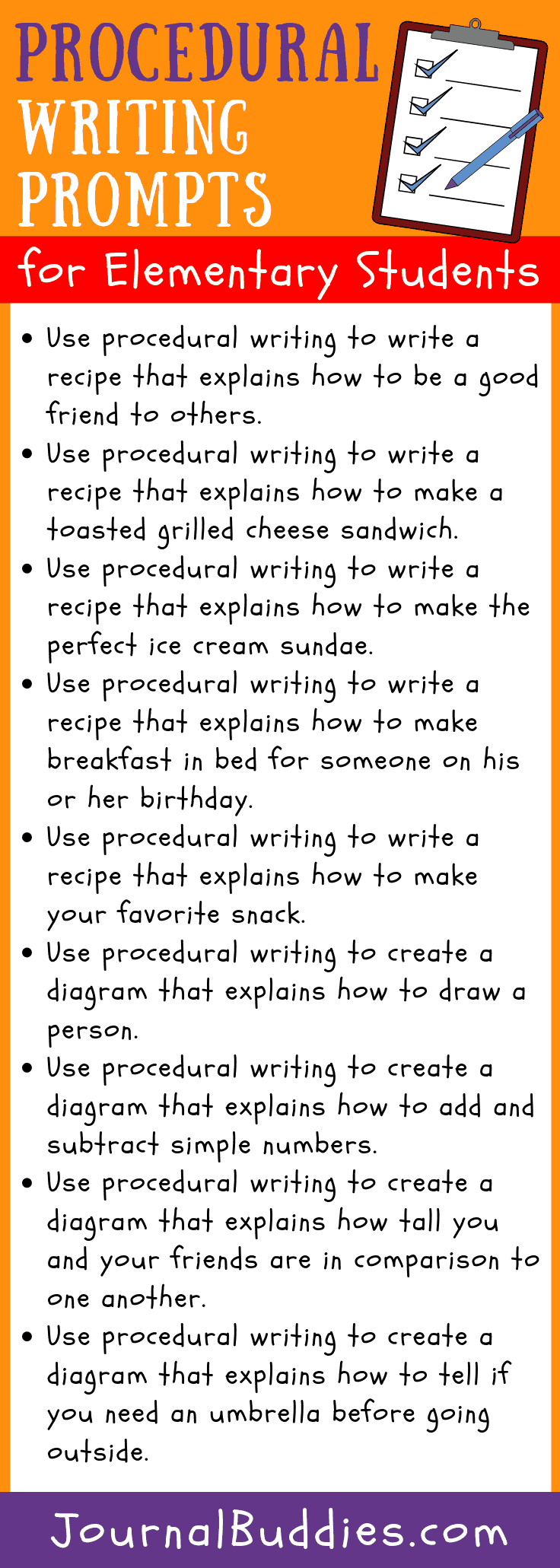 Elementary Procedural Writing Ideas