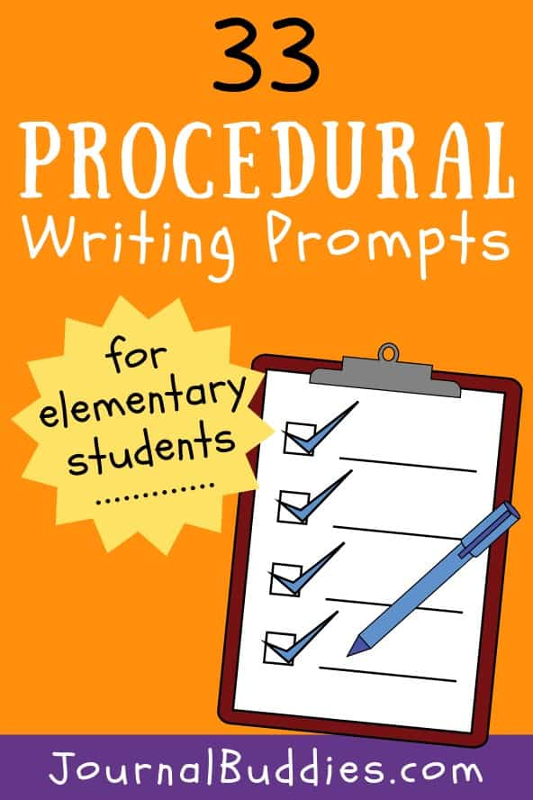 Elementary Age Procedural Writing Prompts