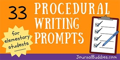 Procedural Writing Prompts for Elementary Students