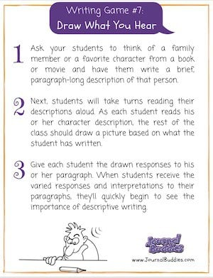 Writing Game 7 Click for Printable PDF