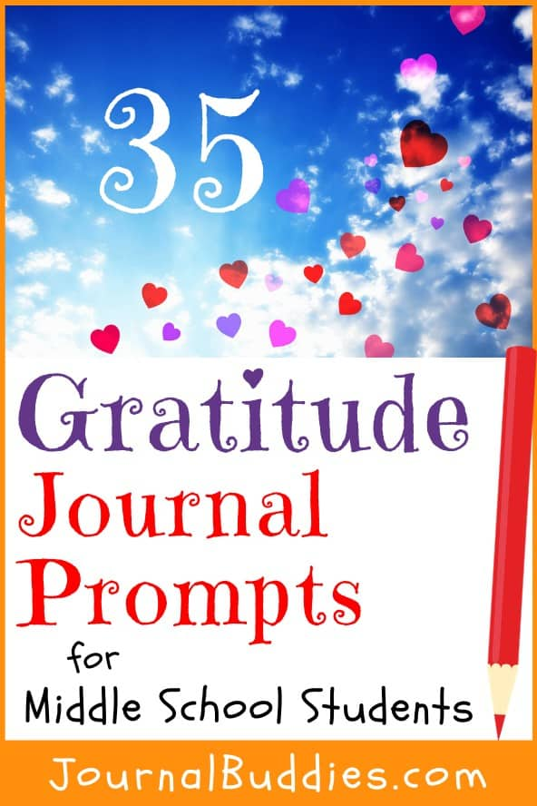Gratitude Journal Writing Ideas for Middle School Students