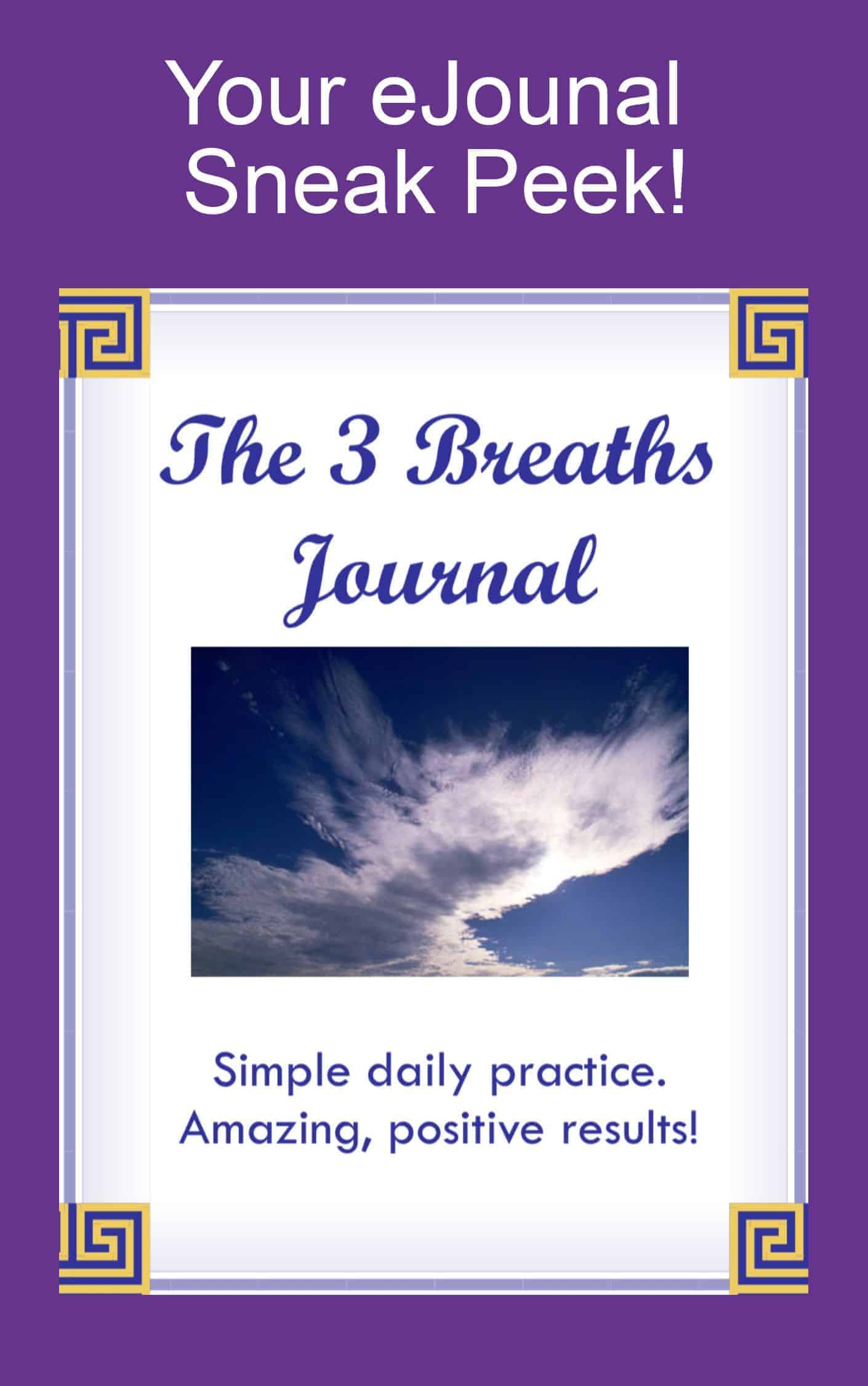 3 Breaths Mindfulness Journal Sneak Peak