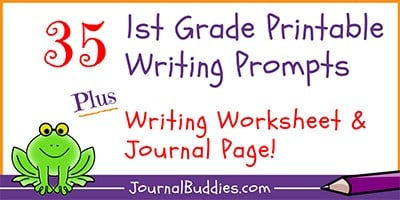 1st Grade Printable Writing Prompts and Worksheets