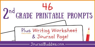Grade 2 Writing Prompts and Free Printable Journal Page