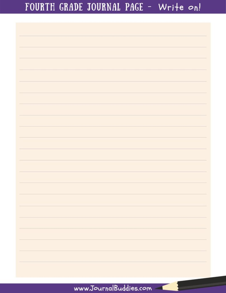 4th Grade Printable Journal Page