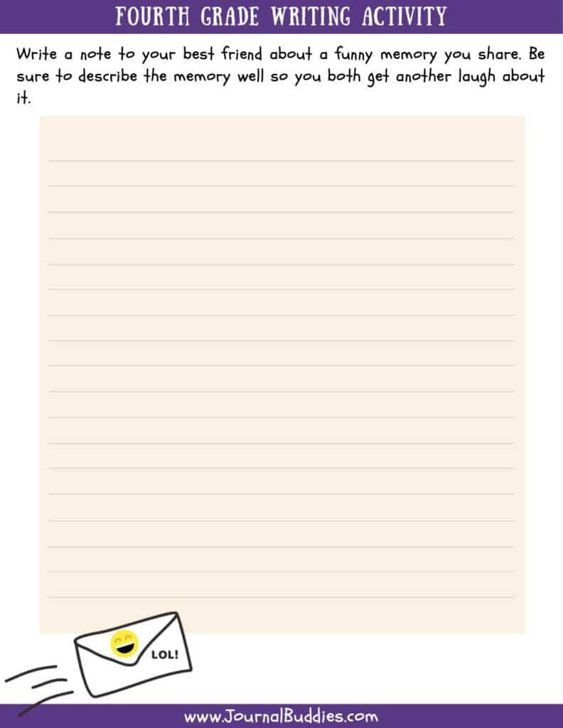 4th Grade Writing Worksheet