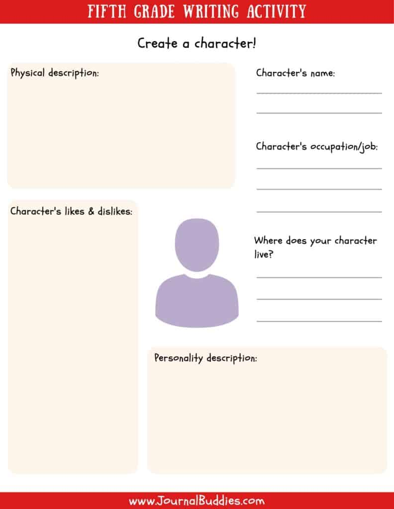 Grade 5 Writing Worksheet
