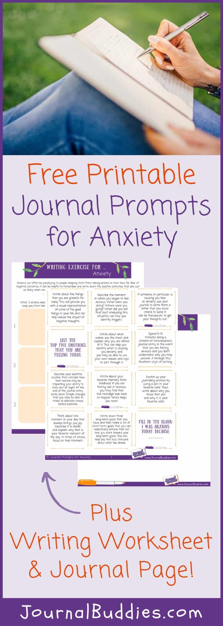 Printable Writing Prompts for Anxiety