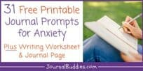 Journal Prompts for Anxiety + Free Printables