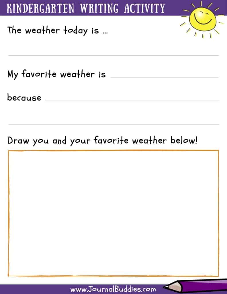 Writing Activity for Kindergarten