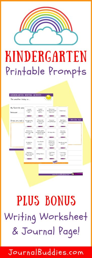 Printable Writing Worksheets and Writing Prompts for Kindergarten