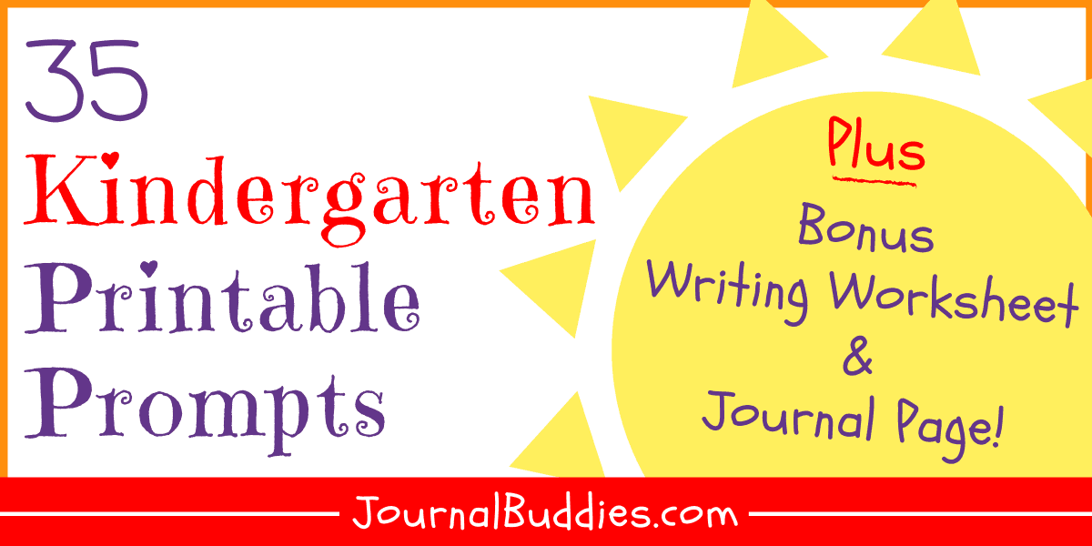 Writing Worksheets For Kindergarten • JournalBuddies.com