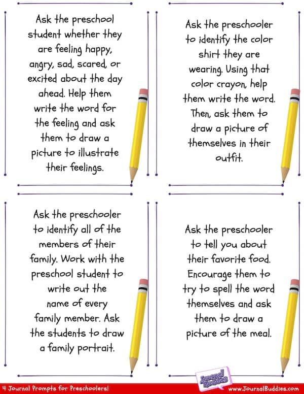 Printable preschool writing prompts