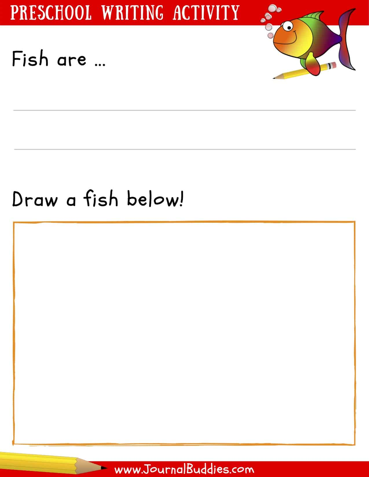 PreSchool Writing Activity printable sheet