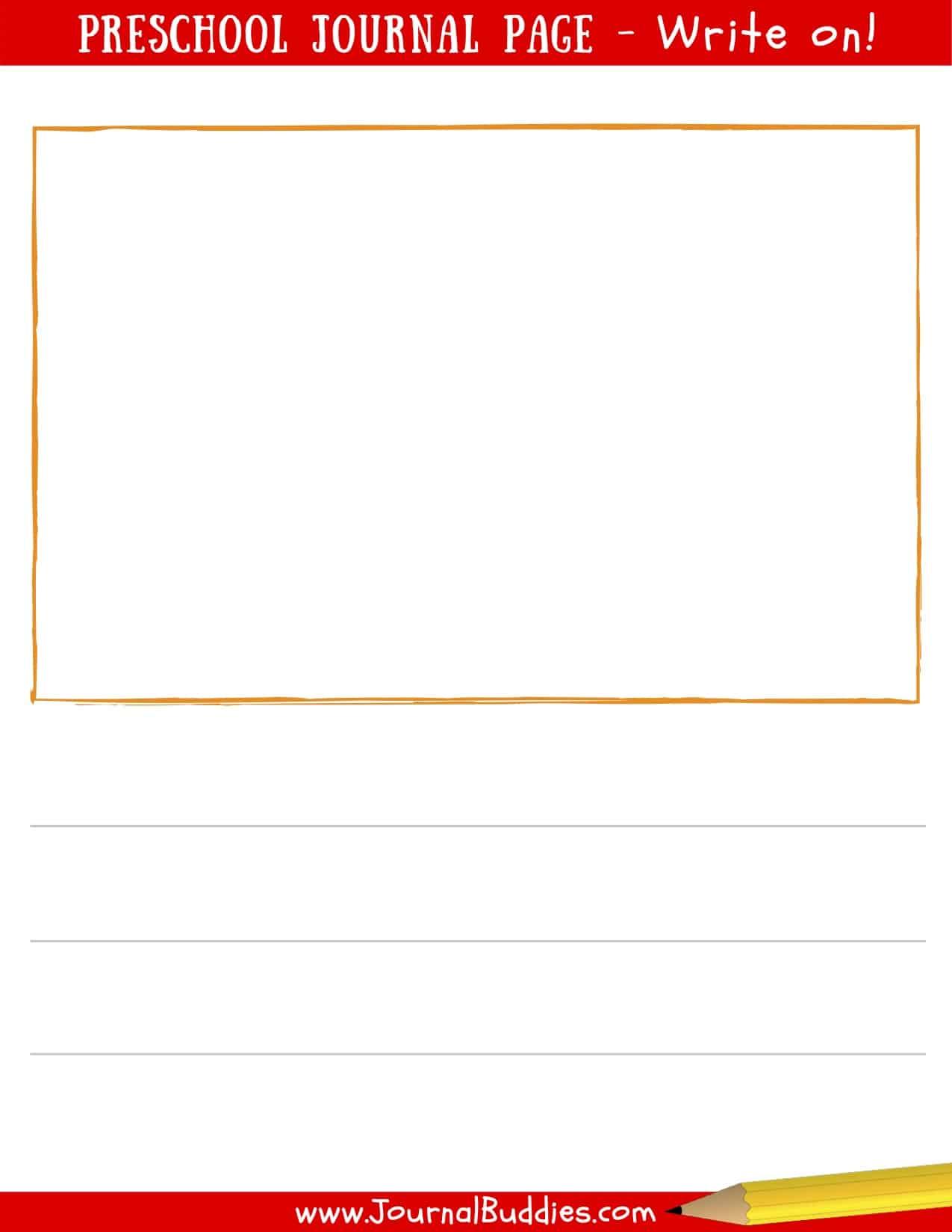 Preschool printable journal page