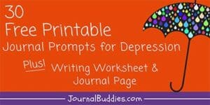 Writing Prompts and Printable Writing Worksheets for Depression