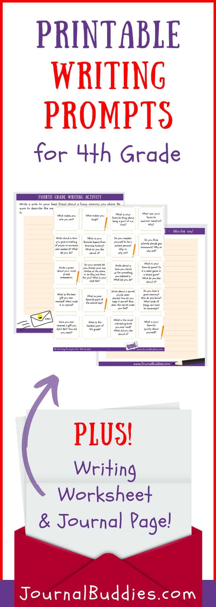 Writing Prompts and Printable Writing Worksheets for 4th Grade