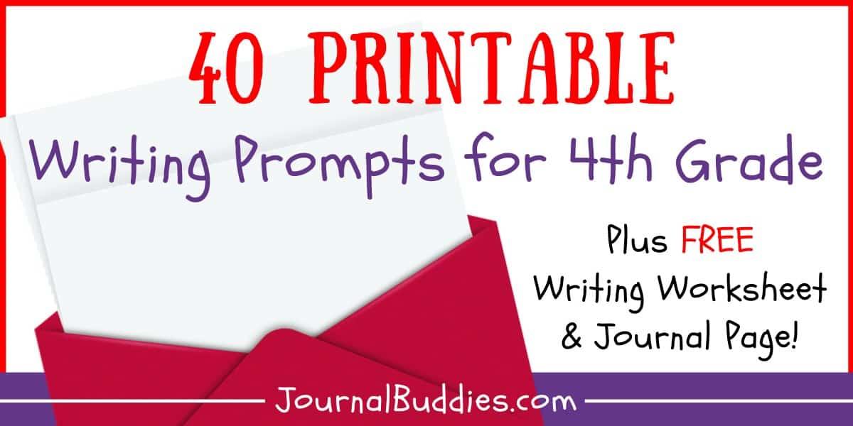 Writing Worksheets For 4th Grade • JournalBuddies.com