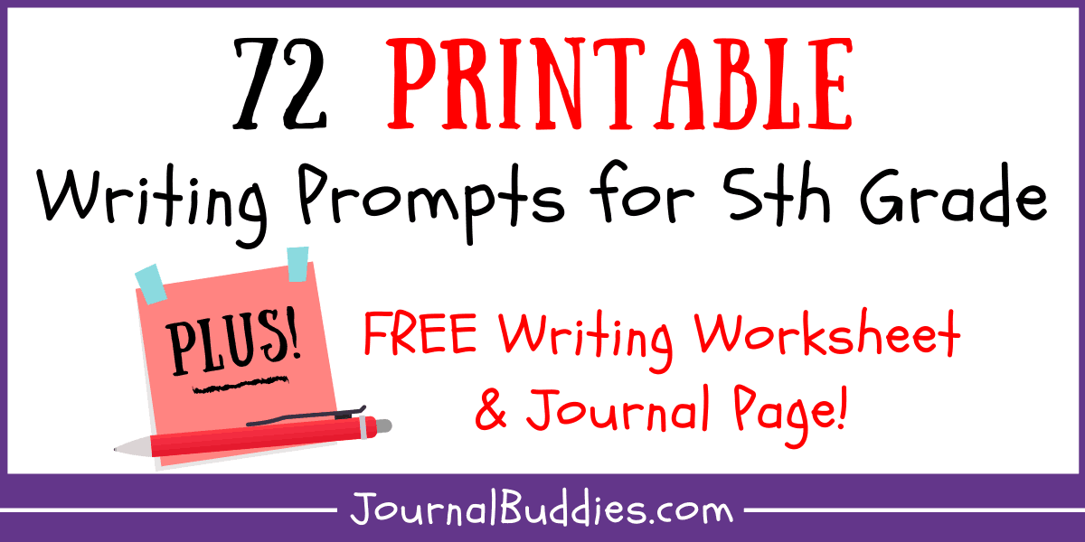Writing Worksheets For 5th Grade • JournalBuddies.com