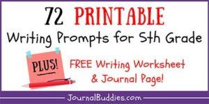 Grade 5 Free Writing Printables