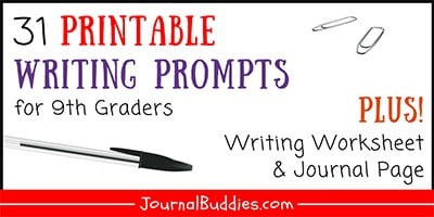 9th Grade Printable Writing Prompts