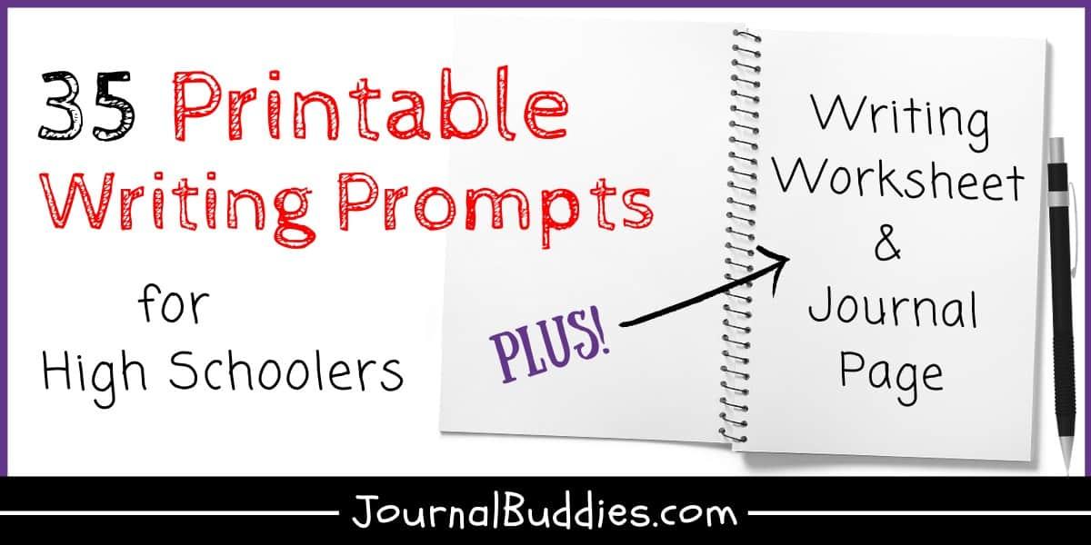 High School Writing Worksheets • JournalBuddies.com