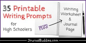 High School Printable Writing Prompts