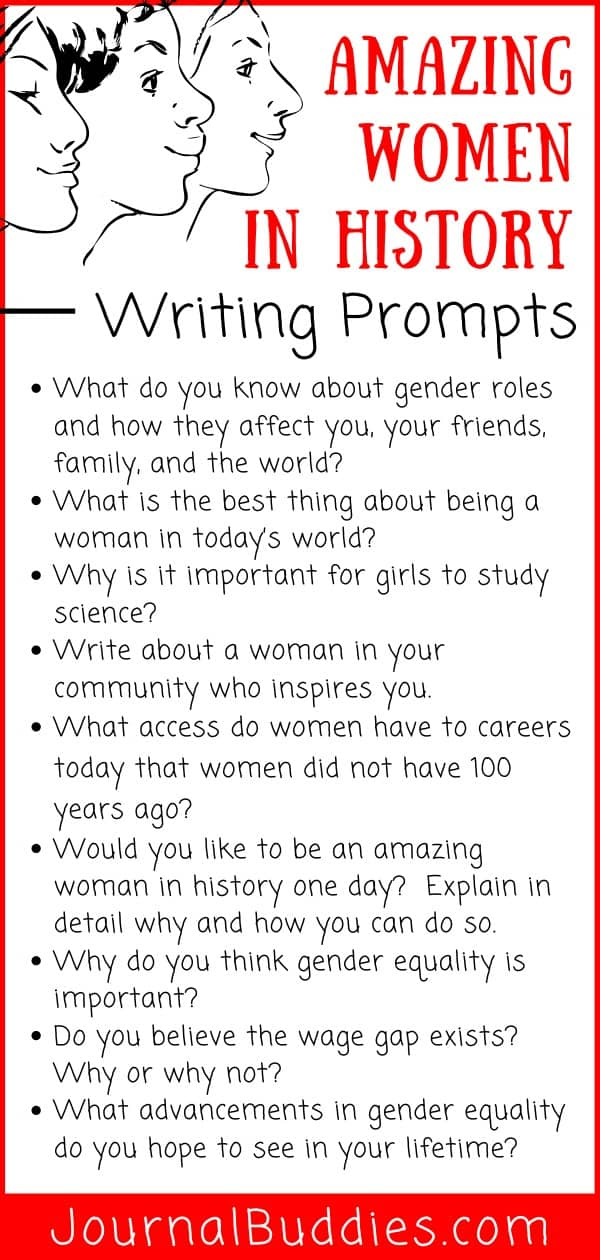 Amazing Women in History Writing Prompts