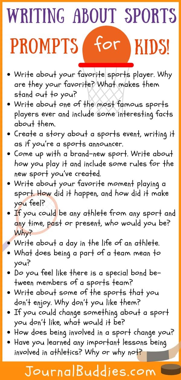 Sports Themed Writing Topics for Kids