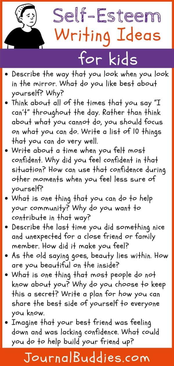 Writing Ideas about Kids Self-Esteem