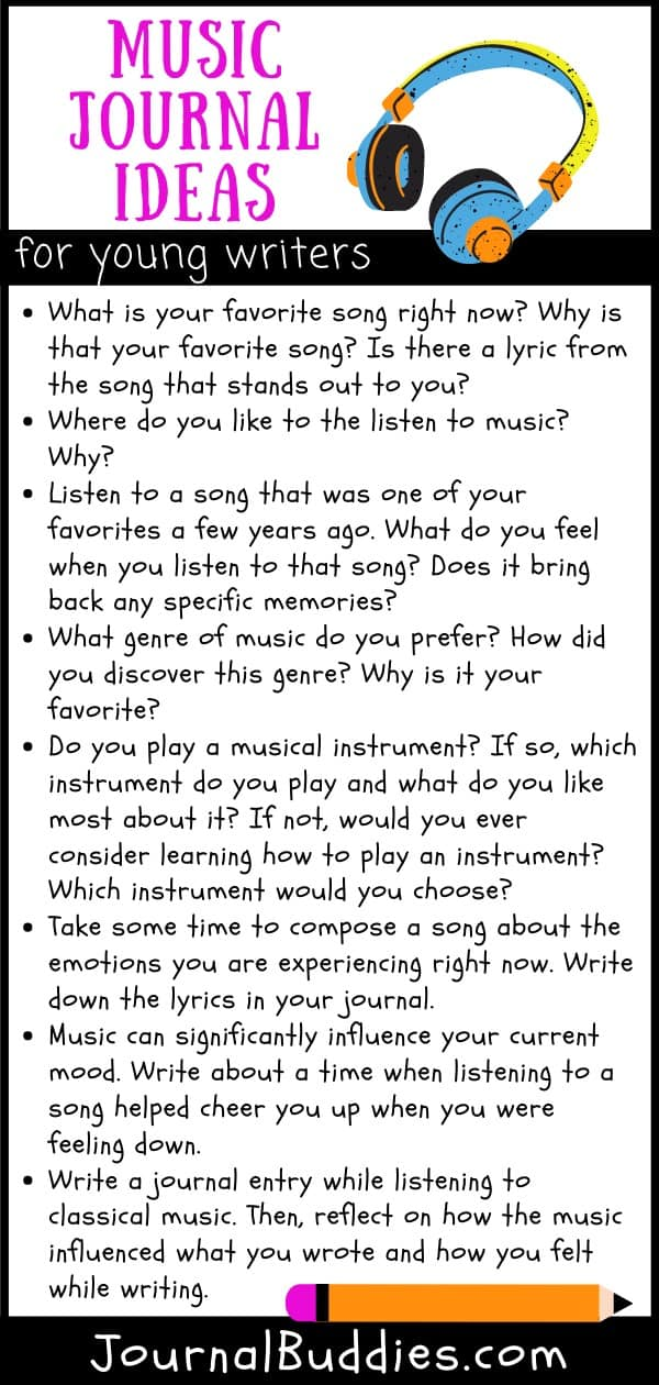 Music Themeed Journal Writing Prompt Ideas