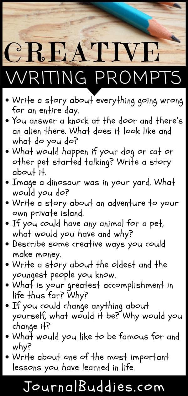 Tips for Creative Writing plus Bonus Prompts