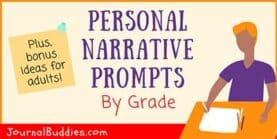 Personal Narrative Prompts by Grade