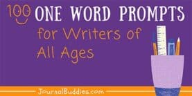 One Word Prompts for Writers of All Ages