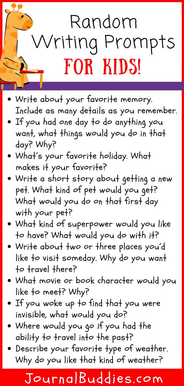 Random Writing Topics for Student Writers