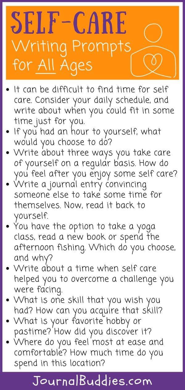 Self-Care Writing Prompts for All Ages
